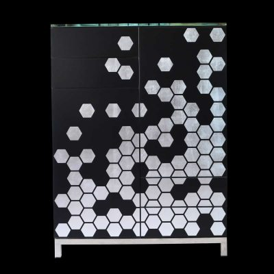 AC Hexagon Silver Highboard